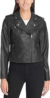 Levi's Ladies Outerwear Women's Faux Leather Classic Asymmetrical Motorcycle Jacket