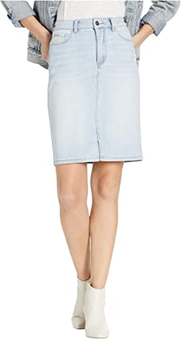 Logo Denim Skirt
