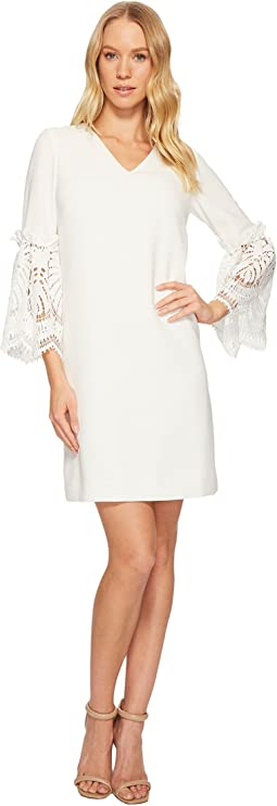 Tahari by ASL Lace Bell Sleeve Shift Dress