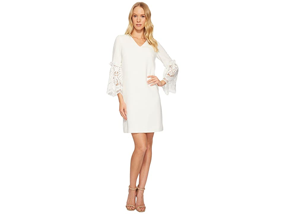 c69320472888 Tahari by ASL Lace Bell Sleeve Shift Dress (Ivory) Women