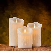 TIED RIBBONS Flameless Led Light Candle Set (Each Set has 3 Candle) - Battery Operated - Christmas Candles Decorations