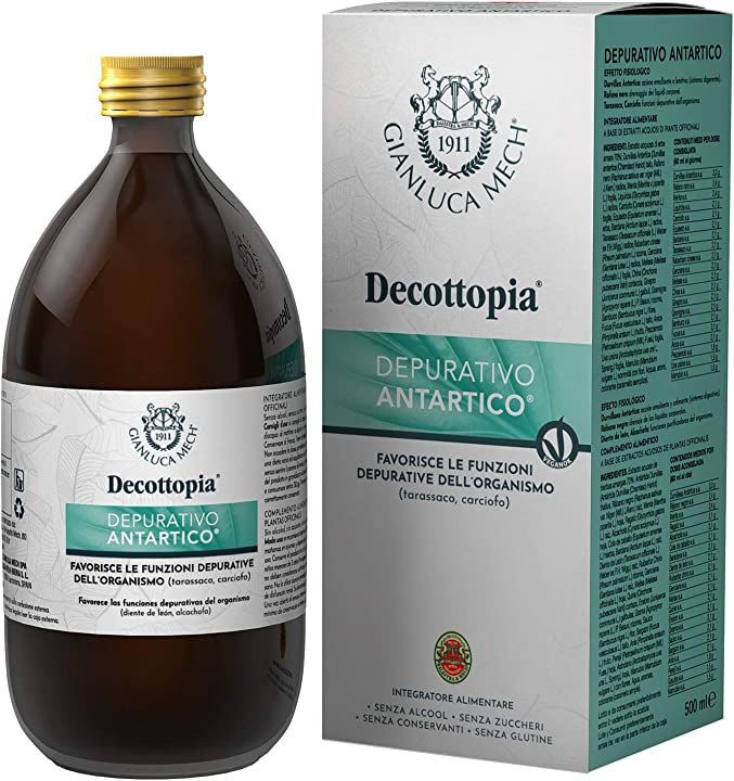 Depurativo antartico diuretico secondo il metodo decottopia al gusto di tarassaco e carciofo, 500 ml IFI02DA0200
