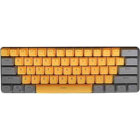 PBT Keycaps 61 Teclas Keycaps Backlight Bicolor Teclado Mecánico PBT Keycap para GH60 / RK61 / ALT61 / Annie/Keyboard Poker Keys