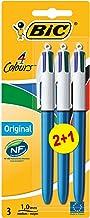 BIC 4 colores Original bolígrafos Retráctiles punta media (1,0 mm) - Blíster de 2+1