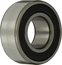 SKF 3206 A-2RS1TN9/MT33 Double Row Ball Bearing, Converging Angle Design, 32° Contact Angle, ABEC 1 Precision, Double Sealed, Plastic Cage, Normal Clearance, 30mm Bore, 62mm OD, 15/16