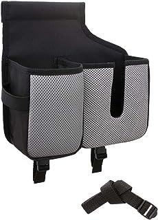 ナポレックス 車用 収納ポケット 働く軽 ティッシュ&水筒ポケット ベルト付 簡単取付 ヘッドレストが一体型のシートにも対応 NAPOLEX SDK-4