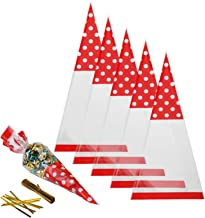 Best christmas cellophane cone bags Reviews