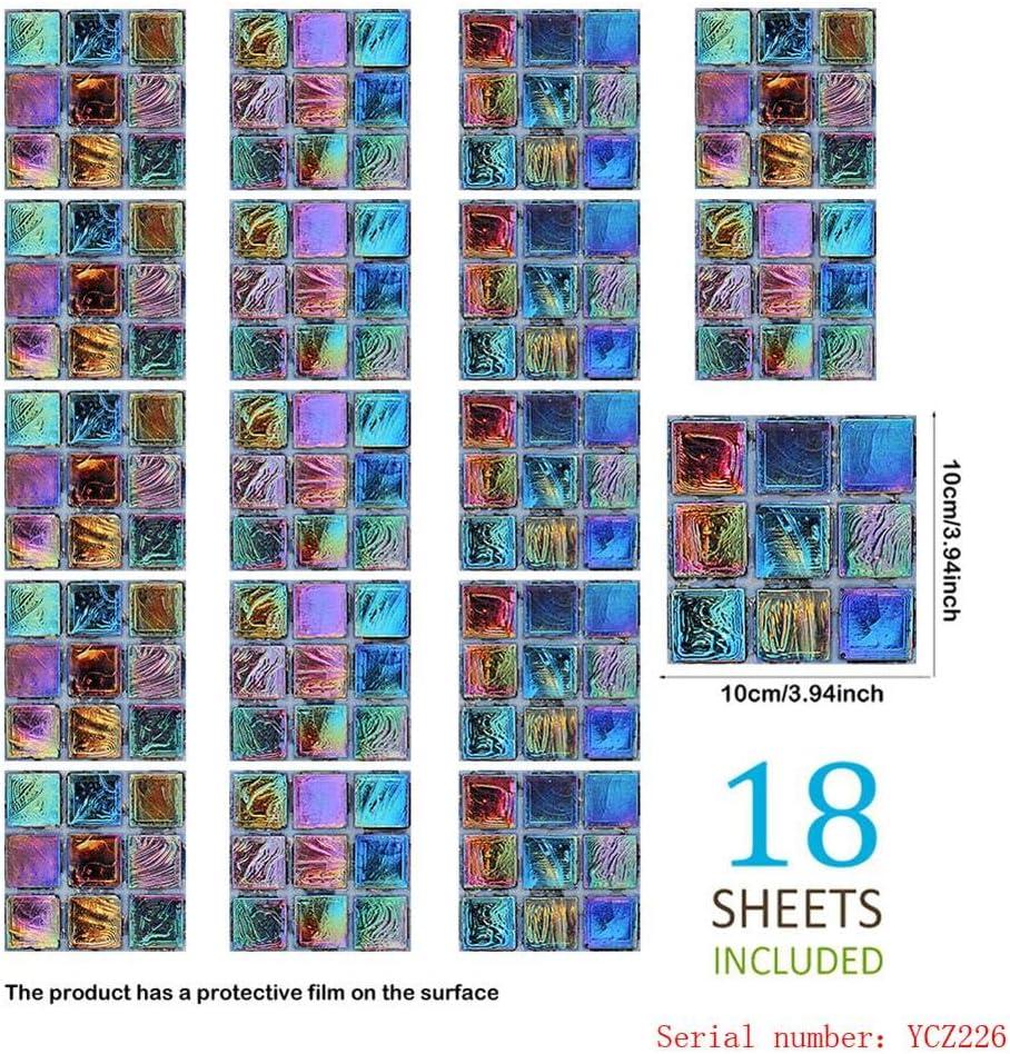 Ideal para pegar sobre azulejos Laminas autoadhesivas 3D Decorativos Adhesivos para Azulejos Pegatina de Pared cristal madera y cualquier otra superficie lisa.