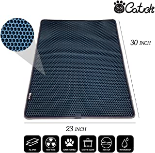 CATCH Litter Mat Honeycomb Double Layer Design Water Urine Proof Easy Clean Non-Slip Backing Rug Big Size 30