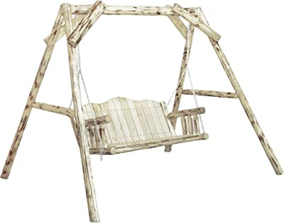 Montana Woodworks MWLSAZ Montana Collection Lawn Swing, Ready to Finish
