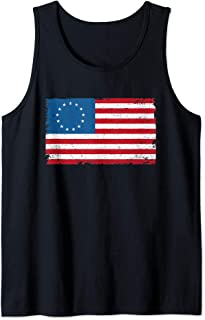 Betsy Ross Flag 4th Of July American USA Patriotic Vintage Tank Top