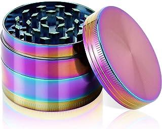 Grinder 2 Inch 4 Pieces Zinc Alloy Grinder- Rainbow Color