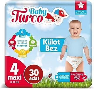 Baby Turco Külot Bez 4 Numara Maxı 30 Adet