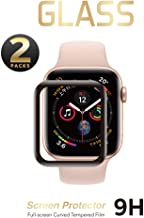 2 Pack - Liquid Tempered Glass Screen Protector Compatible for Apple Watch Full Coverage Protective Foil 9H 2.5D (38mm)
