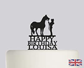 24th Birthday Horse Riding Precut Cupcake Toppers Decorations Ladies Friend Mum