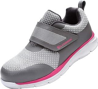 LARNMERN Chaussure de Securité Homme Femme,S1/SBP SRC Respirables Ultra Légères Chaussures de Travail Antidérapant