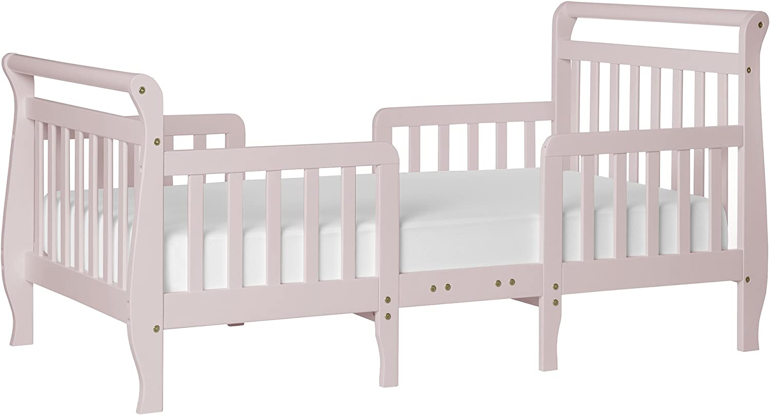 Dream On Me Emma 3-In-1 Congreenible Toddler Bed, bluesh Pink