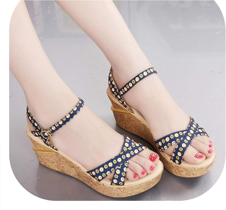 Shine-shine Buckle Waterproof Platform Fish Mouth High Heel Women shoes F014
