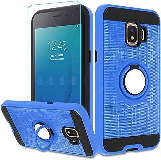 Galaxy J2 Core Case, Galaxy J2 2019 / J2 Dash/Galaxy J2 Pure with HD Screen Protector,Atump 360 Degree Rotating Ring Holder Kickstand Cover Phone Case for Samsung Galaxy J2 Core 2018 Blue
