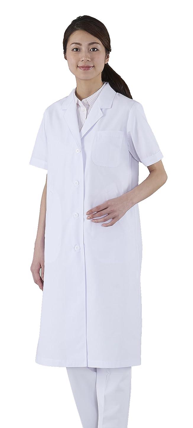 見る人翻訳とげのあるアプロンアパレルレディス診察衣シングル半袖 Lサイズ122-30AP