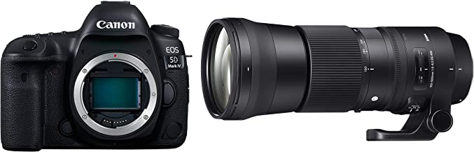 Canon EOS 5D Mark IV 30.4MP Digital SLR Camera Body Only (Black) with Sigma 150-600 mm f/5-6.3 DG OS HSM Lens