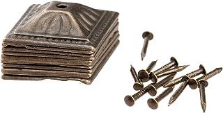 Fästelement 10st 21x21mm Antik Bronströnster Klädsel Nagel Smycken Väska Box Soffa Dekorativ Tack Stud Pushpin Dekorativa ...