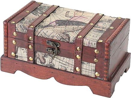HMF 6410-159 Kuba Coffre au tr/ésor en bois 38 x 20 x 19 cm Bo/îte de rangement