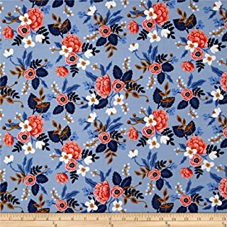 Cotton + Steel 0456511 Rifle Paper Co. Les Fleurs Birch Periwinkle Fabric by the Yard