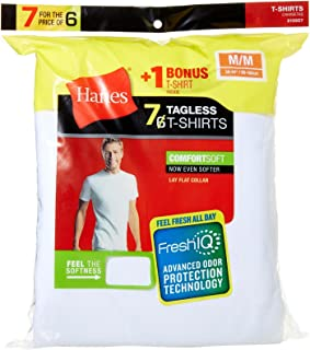 hanes crew neck t shirts tall
