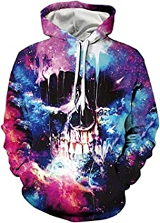 HHGKED Unisex 3D Hoodies Pullover Hooded Sweatshirts Long Sleeve Fall Tops with Pockets