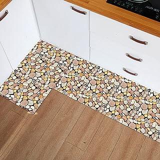 Kitchen Mat Cushioned Anti Fatigue 2 Piece Set Foam Kitchen Rugs and Mats for Floor Waterproof Kitchen Runner Non Skid Was...