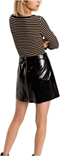 Tommy Hilfiger reversible straight skirt for women in black, Size: