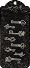 Graphic 45 Shabby Chic Ornate Metal Keys for Crafting