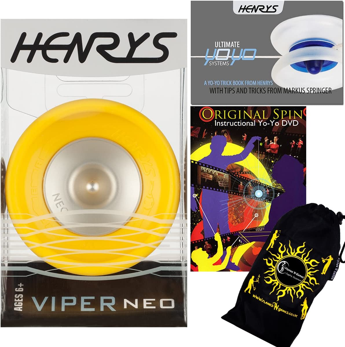 Henrys VIPER Ranking TOP11 Max 62% OFF NEO Pro YoYo Professional String Yellow 1A Off