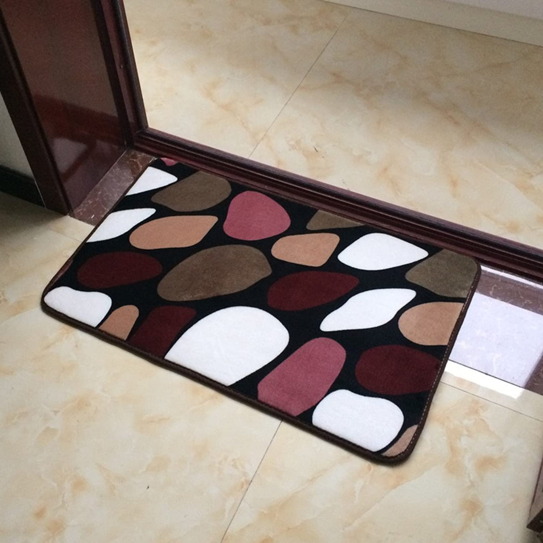 Doormats Living Room Balcony Floor mats Bedroom The Kitchen Porch Water-Absorbing mats Strip pad-M 70x140cm(28x55inch)