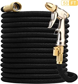 Nerghos Garden Hose Expandable Water Hose 50FT & Multifunctional Spray Hose Nozzle,Flexible Lightweight Hose-Extra Strength No-Kink Leakproof with 3/4