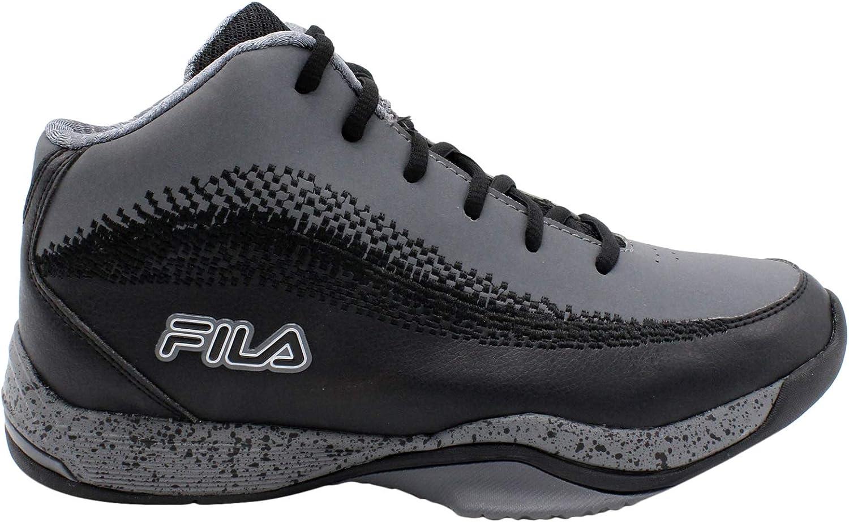 FILA Men's Contingent 4 Basketball shoes, Csrk Blk MSil (13.0)