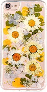 Real Flower Case for iPhone 6, Elegant TIPFLY iPhone 6s Handmade Pressed Dried Flowers Soft Silicone Cover, Transparent Ultra-Thin Ultra-Light Women Skin for iPhone 6/6s (Real Flower 0)
