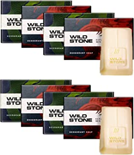 Wild Stone 4 Forest Spice and 4 Ultra Sensual Soap (3+1) Combo Pack of 2 (125 gm each)
