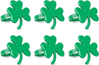 DII Napkin Rings, Dinners, Parties, Everyday, Set of 6, Shamrock, St. Patrick's