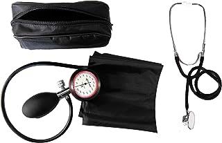 Medi-Inn - Tensiómetro de brazo de 1 tubo con estetoscopio de doble cabezal, color negro