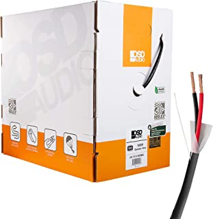 OSD 12 Gauge 2 Conductor 500ft UL CL3 Rated Oxygen Free in Wall Black Speaker Wire Pure Copper, Direct Burial Graded