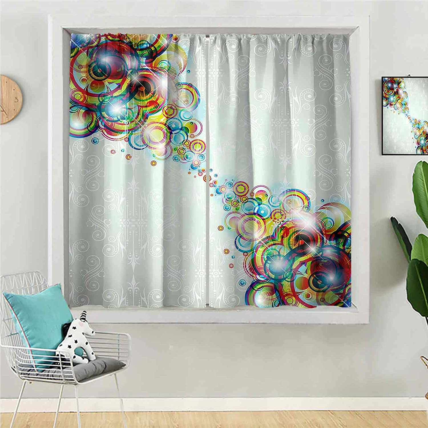 Max Dealing full price reduction 80% OFF Blackout Curtain 84 inches Long Panel Window Be for Kids