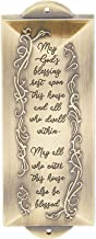 Faithful Finds Metal Mezuzah with Engraved Blessing for Front Door (Gold, 2 x 6 Inches)