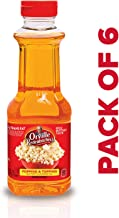 Orville Redenbacher's Popping & Topping Buttery Flavored Oil, Keto Friendly, 16 Fluid Ounce, Pack of 6