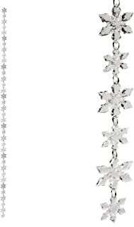 Abbott Collection 27-Strand/02 Clear Acrylic Snowflake Garland, 6-Feet