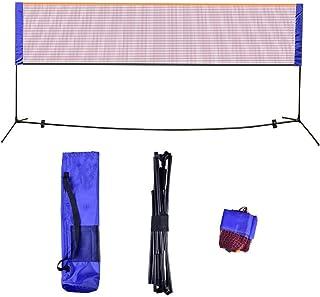 Badminton nät 20 fot badminton volleyboll tennisnät set bärbart lag sport nät med stativ ram stänger förvaringsväska enkel...