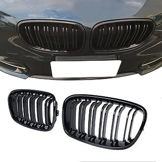 CUHAWUDBA para el Parachoques Delantero S3 Style Rejillas Antiniebla Negro Brillante para A3 S-Line 8V 2013 2014 2015 2016 Honeycomb Mesh Hex Front Grill