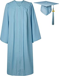 GraduatePro Graduation Gown and Cap for Adults UK University High School Teen 2021 Outfit Costume Unisex 12 Colors