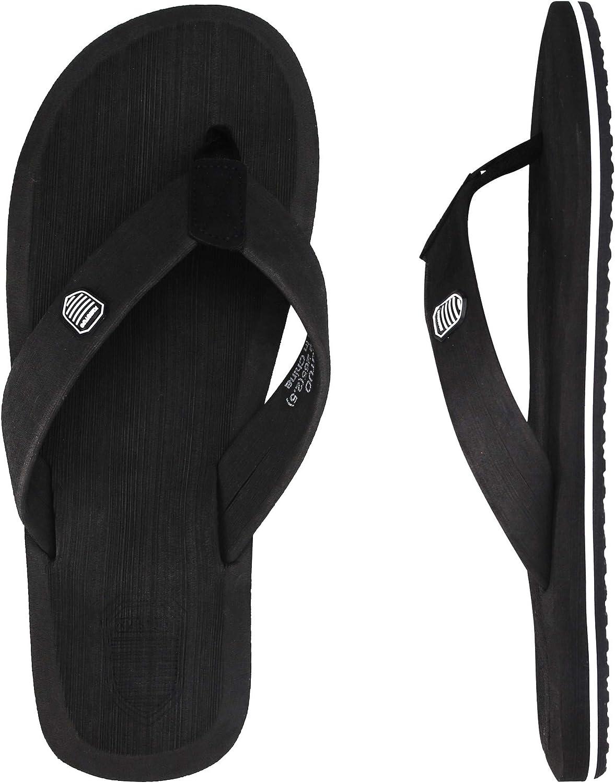 Spesoul Mens Flip Flops Unisex Lightweight Cozy Classical Indoor Outdoor Beach Sandals